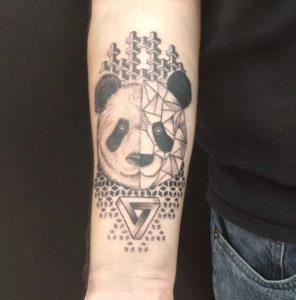 Mishka-Geometric-Blackwork-Tattoo